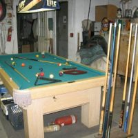Pool Table & Cue Holder