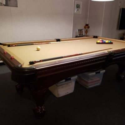American Heritage 8 Ft. Pool Table and Accessories