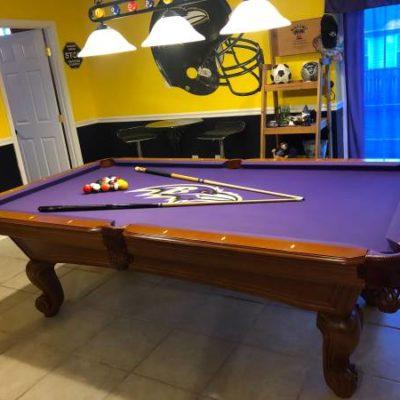 Ravens Slate Pool Table